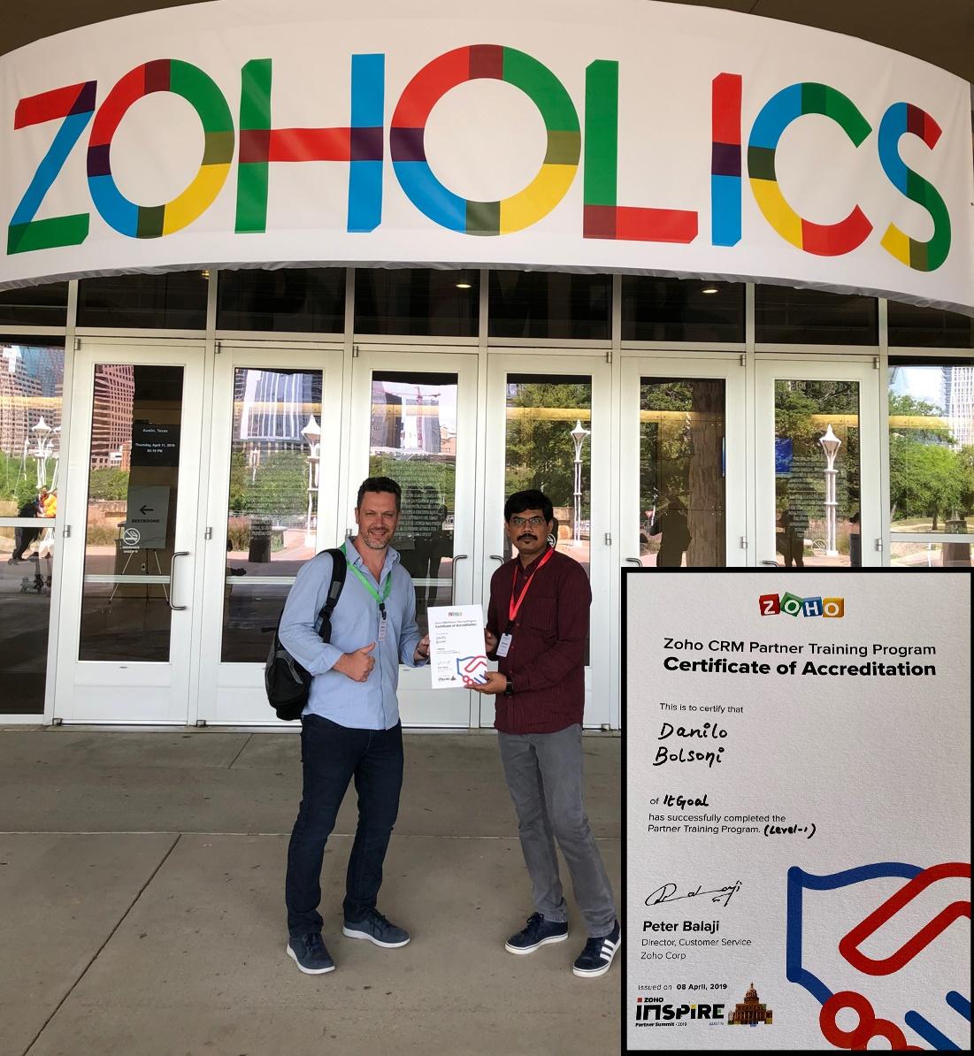 Certificação Zoho CRM – Austin Texas – 2019