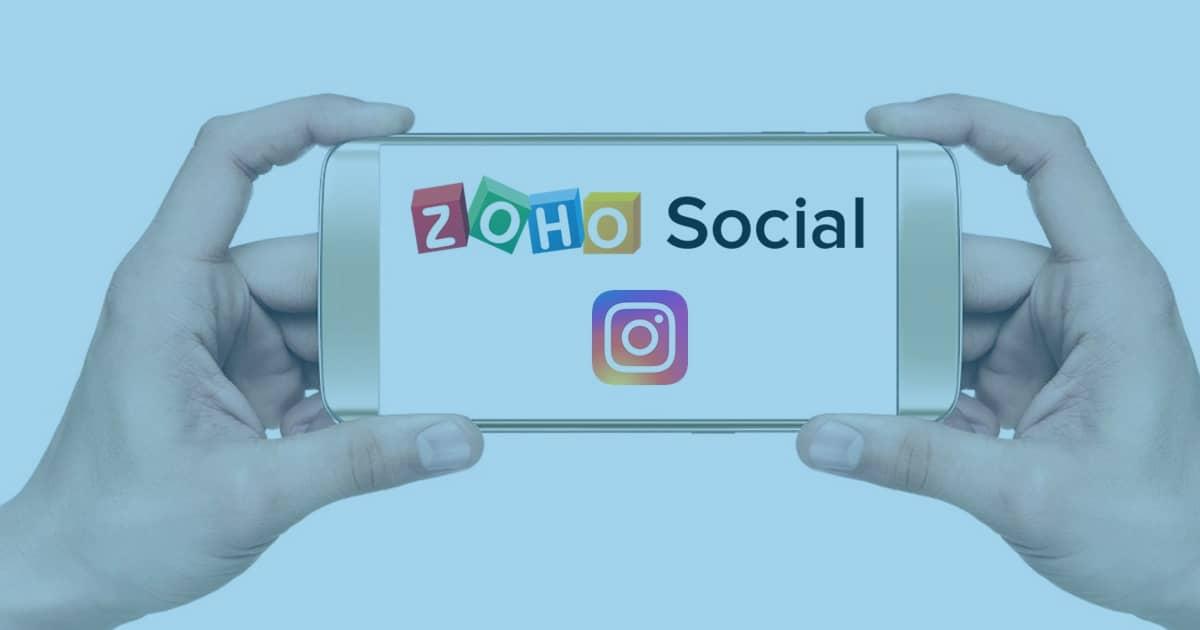 Publique no Instagram com Zoho Social