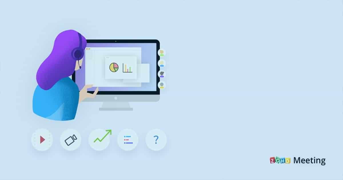 Reuniões online usando Zoho CRM integrado com Zoho Meeting