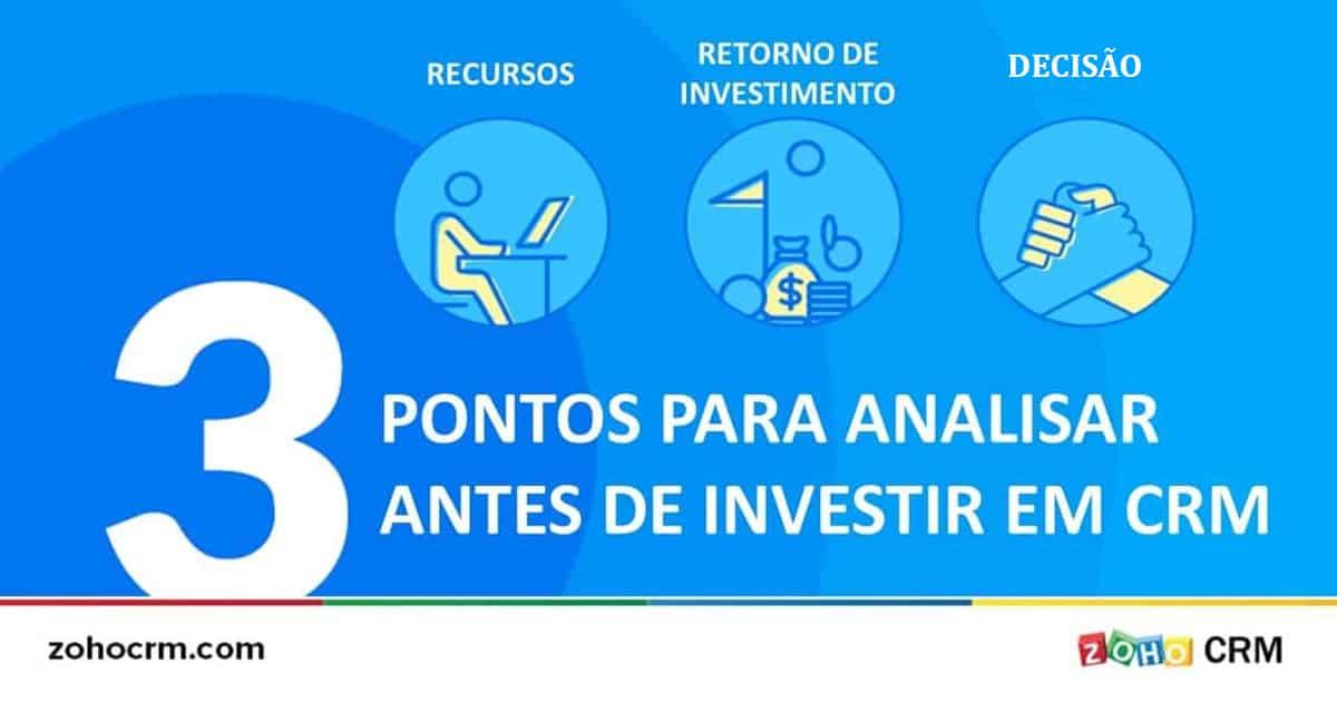 3 pontos para analisar antes de investir em CRM